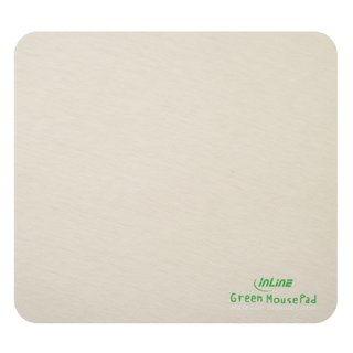 InLine® Maus-Pad Recycled, Baumwolle / natur, 220x200x3mm