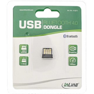 InLine® Bluetooth Dongle, Bluetooth 4.0 + EDR, USB Adapter im Mikroformat