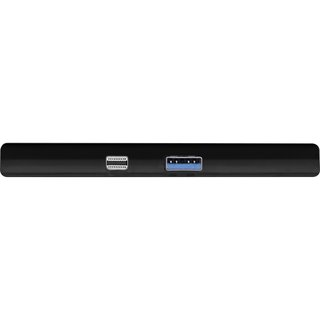 InLine® MultiHub, Surface Pro 4/5/6, 3-Port USB 3.2 Typ-A Buchse, HDMI 4K, Cardreader, schwarz